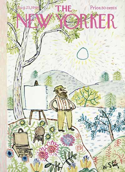 William Steig The New Yorker 1969_08_23 Copyright | The New Yorker Graphic Art Covers 1946-1970