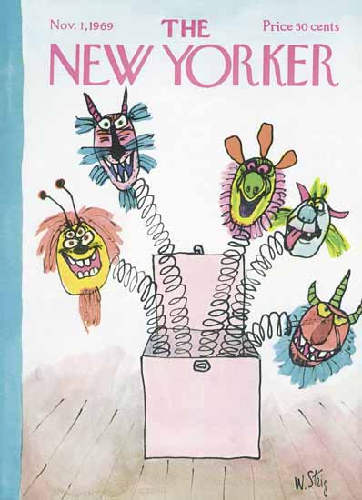 William Steig The New Yorker 1969_11_01 Copyright | The New Yorker Graphic Art Covers 1946-1970