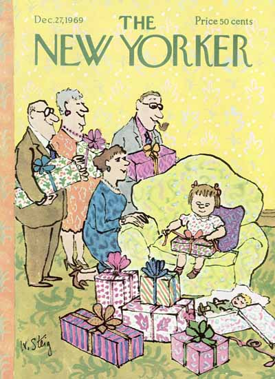 William Steig The New Yorker 1969_12_27 Copyright | The New Yorker Graphic Art Covers 1946-1970