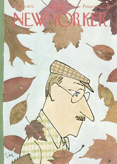 William Steig The New Yorker 1970_10_17 Copyright | The New Yorker Graphic Art Covers 1946-1970