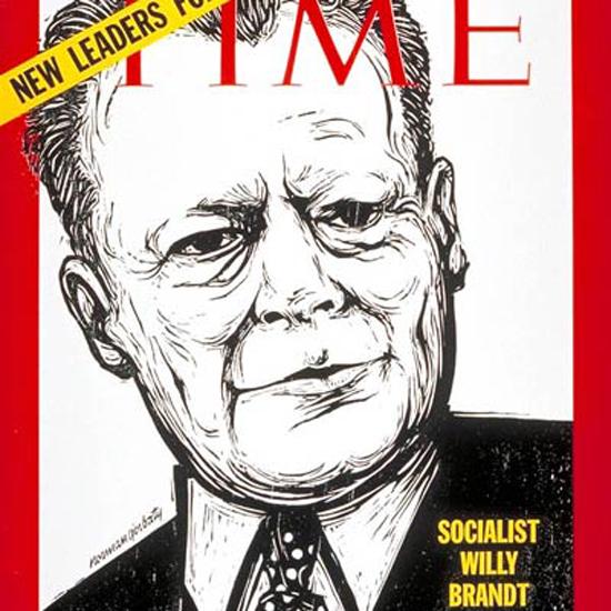Willy Brandt Time Magazine 1969-10 crop | Best of Vintage Cover Art 1900-1970