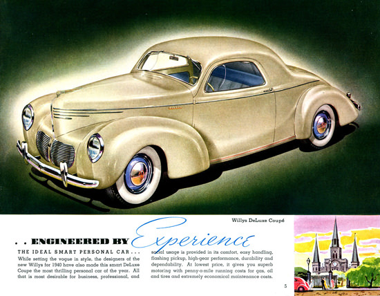Willys DeLuxe Coupe 1940 | Vintage Cars 1891-1970