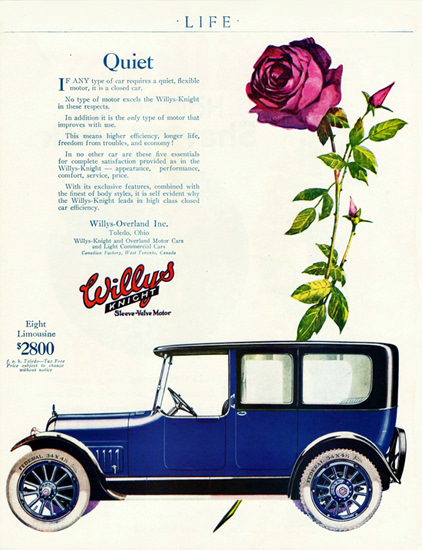 Willys Knight Eight P Limousine 1918 Toledo | Vintage Cars 1891-1970