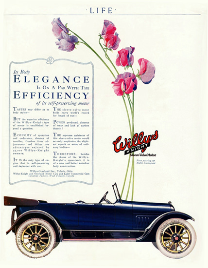 Willys Knight Four P Touring Car 1918 Toledo | Vintage Cars 1891-1970