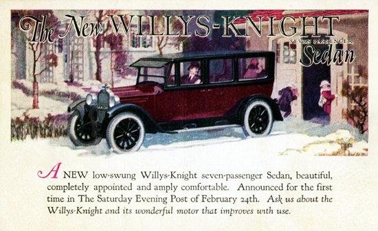 Willys Knight Seven P Sedan 1923 Toledo   Vintage Cars 1891-1970