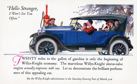 Willys Knight Touring 1923 Toledo | Vintage Cars 1891-1970