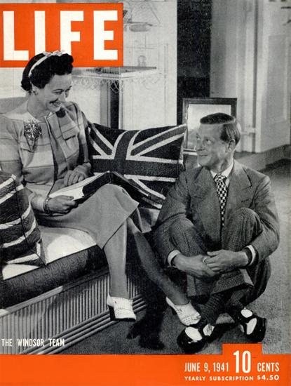Windsor Team 9 Jun 1941 Copyright Life Magazine   Life Magazine BW Photo Covers 1936-1970