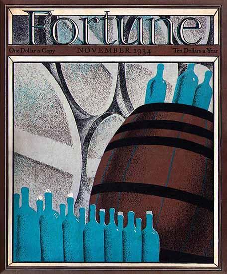Wine Making Fortune Magazine November 1934 Copyright | Fortune Magazine Graphic Art Covers 1930-1959