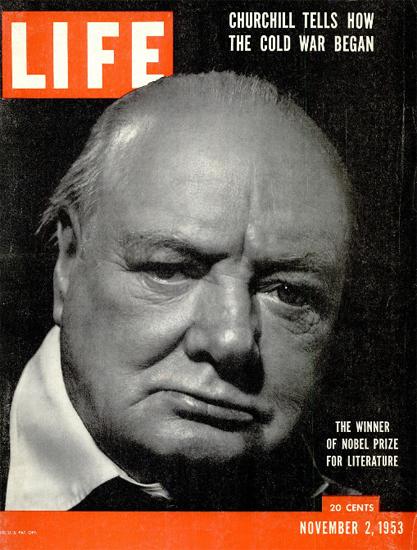 Winston Churchill The Cold War 2 Nov 1953 Copyright Life Magazine | Life Magazine BW Photo Covers 1936-1970