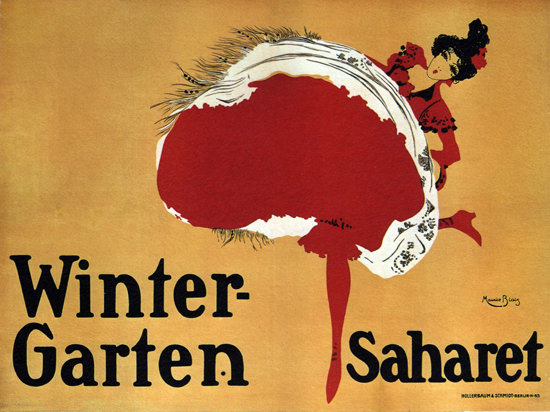 Winter-Garten Saharet Berlin Germany Cabaret | Sex Appeal Vintage Ads and Covers 1891-1970
