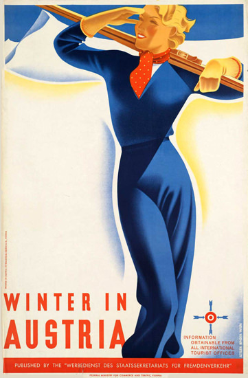 Winter In Austria 1930s   Sex Appeal Vintage Ads and Covers 1891-1970