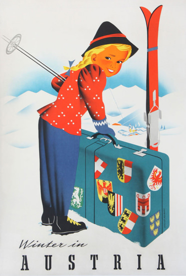 Winter In Austria 1950s | Vintage Travel Posters 1891-1970