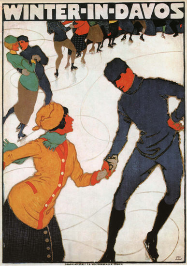Winter In Davos Switzerland Schweiz Suisse | Vintage Travel Posters 1891-1970