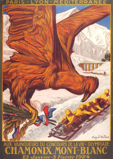 Winter Olympic Games France Chamonix 1924 | Vintage Ad and Cover Art 1891-1970