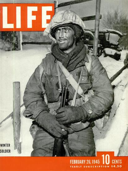 Winter Soldier 26 Feb 1945 Copyright Life Magazine   Life Magazine BW Photo Covers 1936-1970