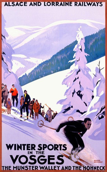 Winter Sports in The Vosges Alsace And Lorraine | Vintage Travel Posters 1891-1970