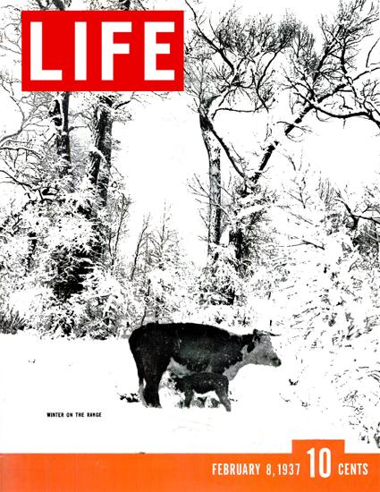 Winter on the Range 8 Feb 1937 Copyright Life Magazine | Life Magazine BW Photo Covers 1936-1970