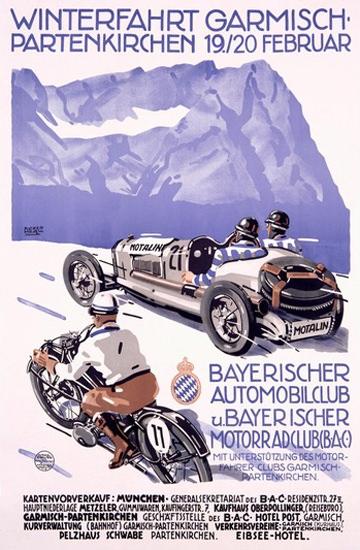 Winterfahrt Garmisch Partenkirchen Bayern | Vintage Ad and Cover Art 1891-1970
