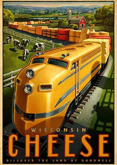 Wisconsin Cheese Ad Land of Goodness   Vintage Ad and Cover Art 1891-1970