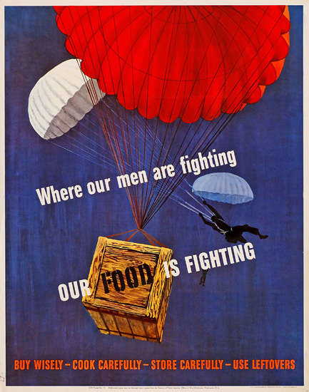 Wisley Food Where Our Men Are Fighting | Vintage War Propaganda Posters 1891-1970