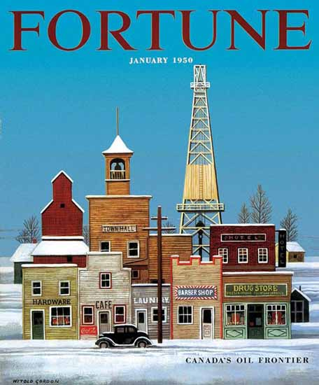 Witold Gordon Fortune Magazine January 1950 Copyright | Fortune Magazine Graphic Art Covers 1930-1959