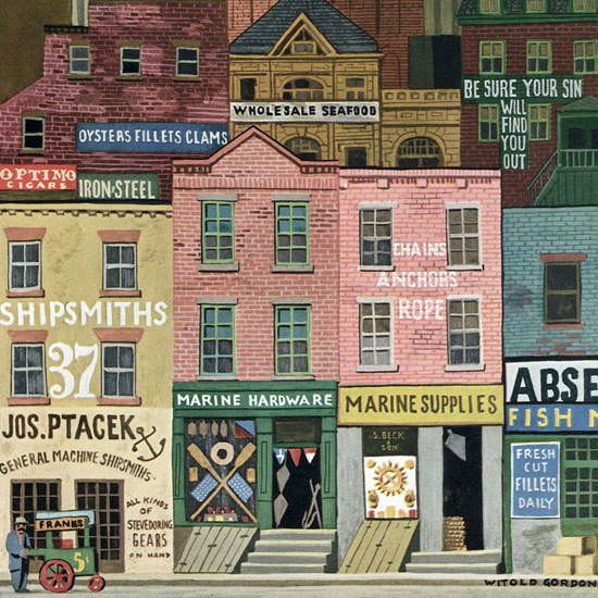 Witold Gordon The New Yorker 1946_04_06 Copyright crop | Best of Vintage Cover Art 1900-1970