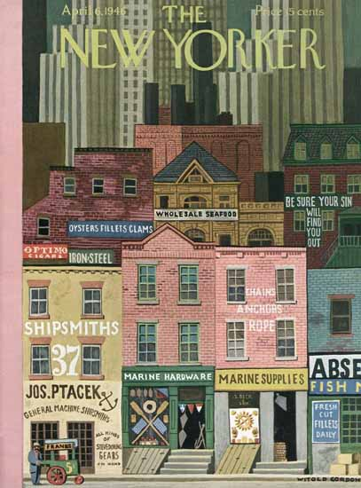 Witold Gordon The New Yorker 1946_04_06 Copyright | The New Yorker Graphic Art Covers 1946-1970