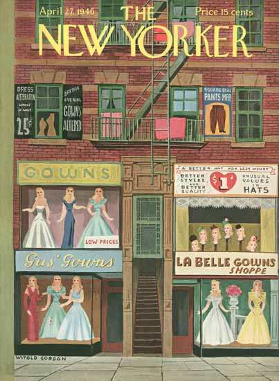 Witold Gordon The New Yorker 1946_04_27 Copyright | The New Yorker Graphic Art Covers 1946-1970