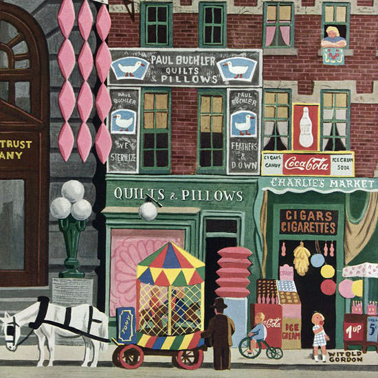 Witold Gordon The New Yorker 1946_06_01 Copyright crop | Best of Vintage Cover Art 1900-1970