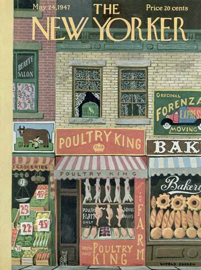 Witold Gordon The New Yorker 1947_05_24 Copyright | The New Yorker Graphic Art Covers 1946-1970