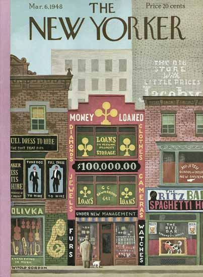 Witold Gordon The New Yorker 1948_03_06 Copyright | The New Yorker Graphic Art Covers 1946-1970