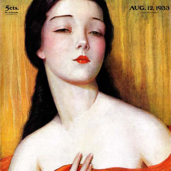 Wladyslaw Teodor Benda Saturday Eve Post 1933_08_12 Copyright crop | Best of Vintage Cover Art 1900-1970