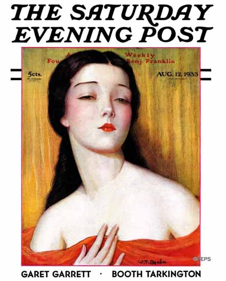 Wladyslaw Teodor Benda Saturday Evening Post 1933_08_12 | The Saturday Evening Post Graphic Art Covers 1931-1969
