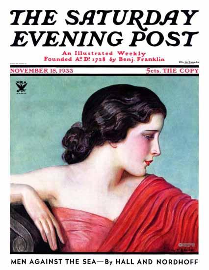 Wladyslaw Teodor Benda Saturday Evening Post 1933_11_18 | The Saturday Evening Post Graphic Art Covers 1931-1969