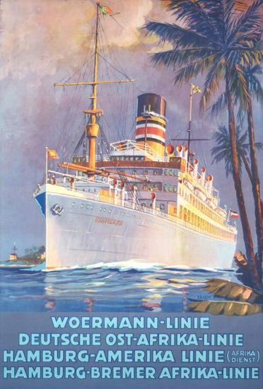 Woermann Deutsche Ost-Afrika Linie 1923 | Vintage Travel Posters 1891-1970