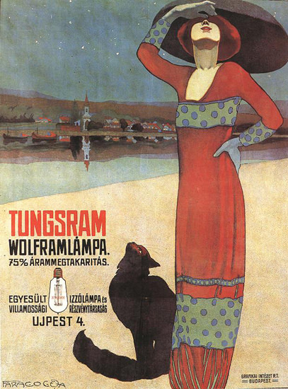 Wolfram Tungsram Budapest Faragó Géza | Sex Appeal Vintage Ads and Covers 1891-1970