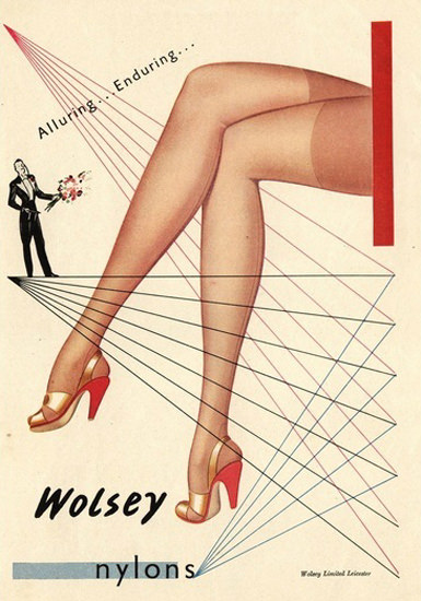Wolsey Nylons Alluring Enduring | Sex Appeal Vintage Ads and Covers 1891-1970