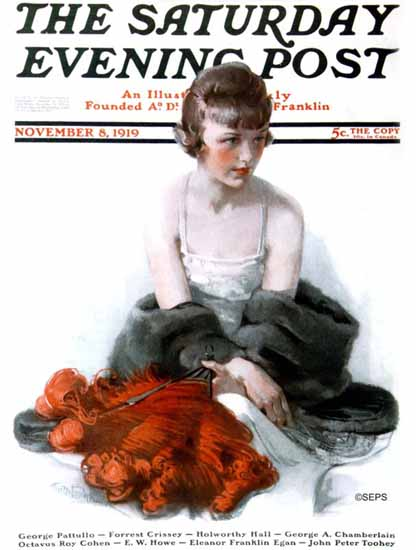 WomenArt Anita Parkhurst Cover Saturday Evening Post 1919_11_08 | 69 Women Cover Artists and 826 Covers 1902-1970