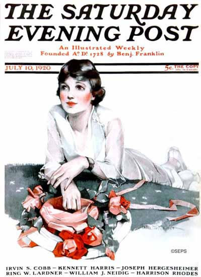 WomenArt Anita Parkhurst Cover Saturday Evening Post 1920_07_10 | 69 Women Cover Artists and 826 Covers 1902-1970