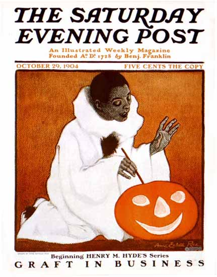 WomenArt Anne Estelle Rice Cover Saturday Evening Post 1904_10_29 | 69 Women Cover Artists and 826 Covers 1902-1970