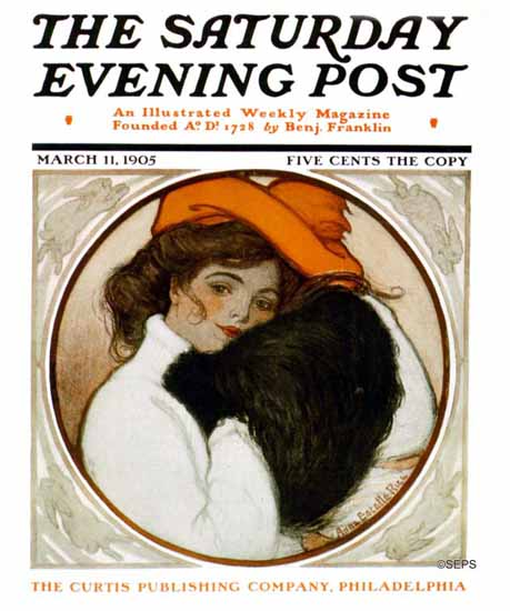 WomenArt Anne Estelle Rice Cover Saturday Evening Post 1905_03_11 | 69 Women Cover Artists and 826 Covers 1902-1970