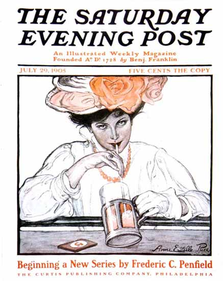WomenArt Anne Estelle Rice Cover Saturday Evening Post 1905_07_29 | 69 Women Cover Artists and 826 Covers 1902-1970