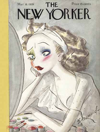 WomenArt Barbara Shermund The New Yorker 1939_03_18 Copyright | 69 Women Cover Artists and 826 Covers 1902-1970