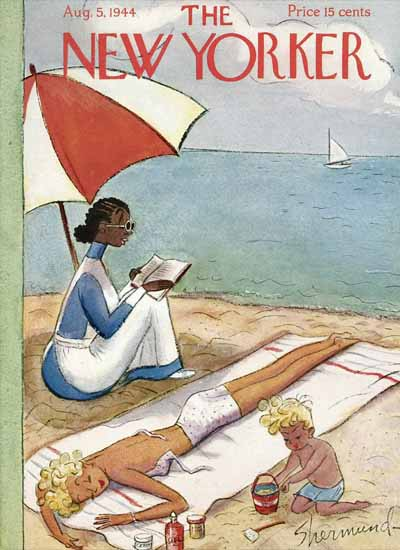 WomenArt Barbara Shermund The New Yorker 1944_08_05 Copyright | 69 Women Cover Artists and 826 Covers 1902-1970