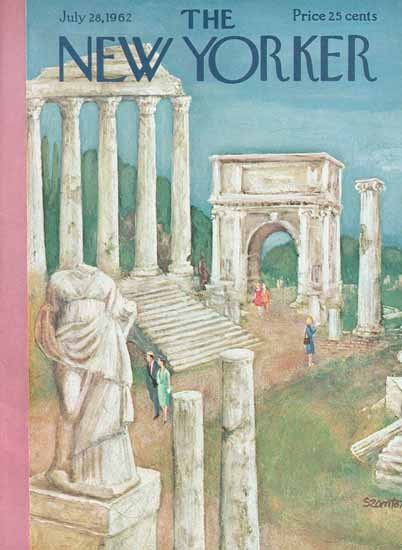 WomenArt Beatrice Szanton Cover The New Yorker 1962_07_28 Copyright | 69 Women Cover Artists and 826 Covers 1902-1970