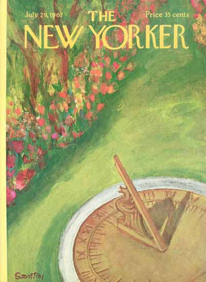 WomenArt Beatrice Szanton Cover The New Yorker 1967_07_29 Copyright | 69 Women Cover Artists and 826 Covers 1902-1970