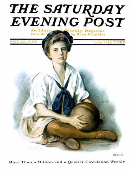 WomenArt Carol Aus Saturday Evening Post Cover Art 1909_11_20 | 69 Women Cover Artists and 826 Covers 1902-1970