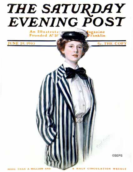 WomenArt Carol Aus Saturday Evening Post Cover Art 1910_06_25 | 69 Women Cover Artists and 826 Covers 1902-1970