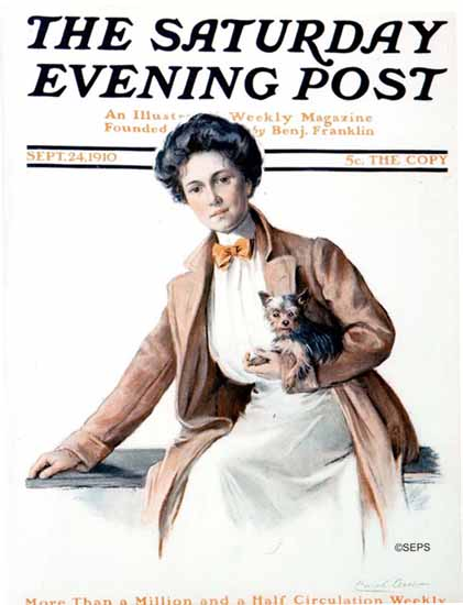 WomenArt Carol Aus Saturday Evening Post Cover Art 1910_09_24 | 69 Women Cover Artists and 826 Covers 1902-1970