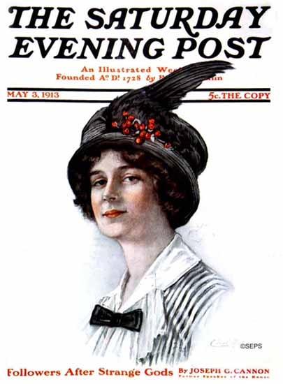 WomenArt Carol Aus Saturday Evening Post Cover Art 1913_05_03 | 69 Women Cover Artists and 826 Covers 1902-1970